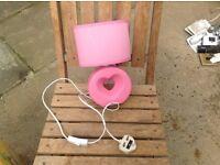 Pink heart girls lamp