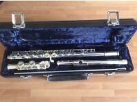 Silver metal flute