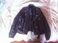 Vintage Punk Biker Leather Jacket Coat