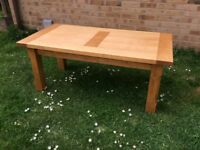 LARGE SOLID BIRCH WOOD COFFEE / TEA TABLE