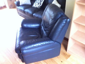 Leather Lazy Chair.