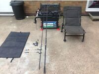 Fishing seat box rod/reel carp seat joblot