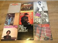 Collection of jazz vinyl records