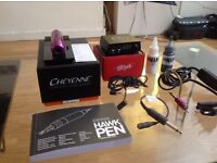 BRAND NEW CHEYENNE HAWK PEN TATTOO KIT WITH POWER SUPPLY, INK AND MORE