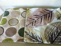2 square cushion covers co-ordinating