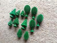 Lego trees and wheels