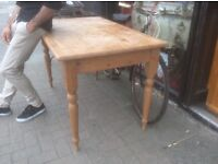 Country pine farmhouse dining table