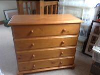 Bedroom furniture pine - nearly new