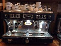 Astoria commercial espresso coffee machine with 2 high level group handles