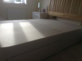 Double divan base and headboard