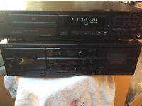 Sony CD player, twin cassette deck