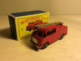 Lesley Matchbox No 9 fire engine