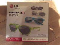 3D LG Cinema glasses