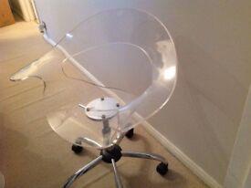 Acrylic swivel chair