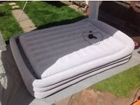 UNUSED - Intex King Size Inflatable flock covered Guest Bed/ Air bed / airbed (NOT A LILO!)