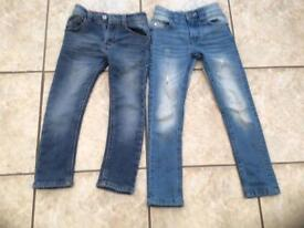 2x boys skinny next jeans-5yrs