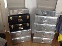 HABITAT Galvanised Storage Trunks BNWT RRP £50!