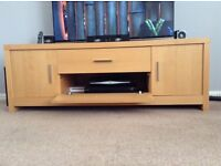 Next TV Unit with Storage - light wood effect (veneer)