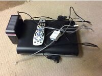 Sky HD box, Remote control, Router and Filter