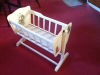 Childs Wooden Cot & High Chair
