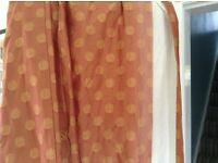 Quality Laura Ashley HOME terracotta/gold full-length curtains