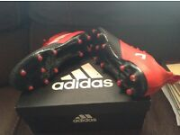 Adidas football boots with attached support ankle sock