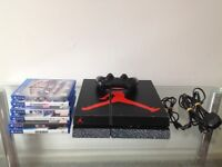Sony PlayStation 4 – 500 GB with 1 controller, 1 game, all leads perfect working
