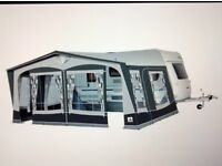 DOREMA Exclusive XL300. size 16 Caravan awning 1025-1050. 300cm deep 25mm steel frame ,grey + extras