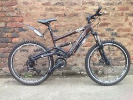 Saracen raw full suspension Mens mountain bike, in good order, can post