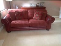 Barker and Stonehouse 3 seater sofa PLUS 4 seater sofa PLUS footstool