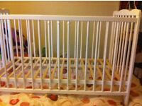 Brand new Baby white cot for sale!! ono