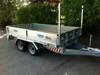 Trailer flatbed 10x5,6 heavy duty 3 ton trailer