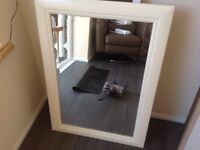 Mirror with painted frame