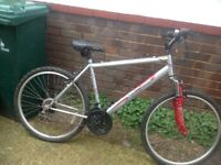 Adults Mountain Bike Front Suspension 18 speed