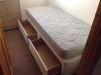 Very clean single bed with two storage drawers plus decent mattress...£30