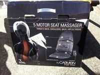 Five motor seat massager, New