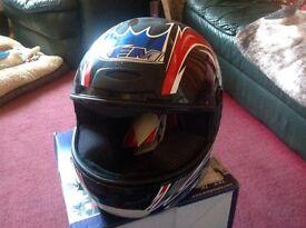 Motorcycle helmet FM new