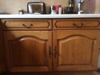 Kitchen for sale - appliances & oak kitchen cupboards : various sizes in excellent condition