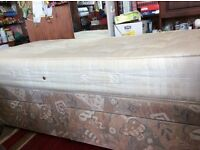 """Single Divan bed with 2 drawers and a 9"""" thick """"Sweet Dreams"""" mattress"""