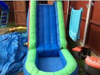 Bouncy castle water slide with blower