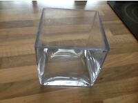 10 X square glass vases wedding party