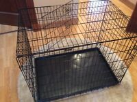 Dog cage large, double door
