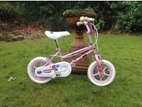 """""""Pink Angels"""" little bike for 3-4 year old girl."""