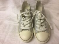 Ladies Silver Trainers Size 4/36