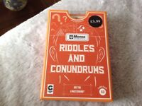 Brand new unopened box of Riddles and Conundrums