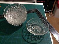 Vintage Set of 6 crystal individual small fruit bowls