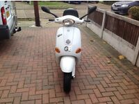 Vespa 50cc this scooter will be in e6 London tomorrow afternoon