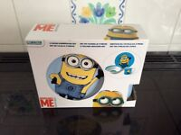 Despicable Me 3 piece dinner set, boxed, unopened