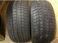 Winter Tyres 255/40/R19 very good condition, used aprox 4000 miles on a vw phaeton