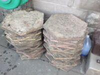 Decorative octagonal paving slabs